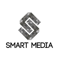 Grey smart media logo vector
