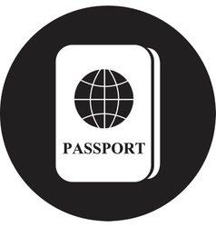 Passport icon vector
