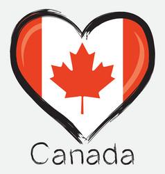 love Canada flag vector image