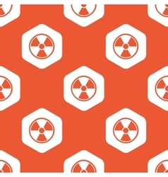 Orange hexagon hazard pattern vector