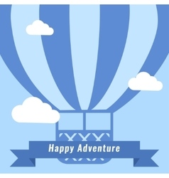 Retro hot air balloon background vector