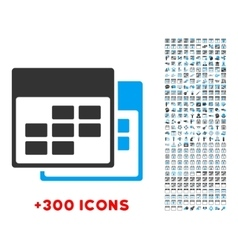 Two calendars icon vector