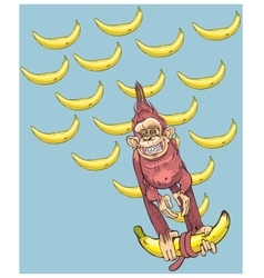 The symbol of year - a monkey with bananas vector image
