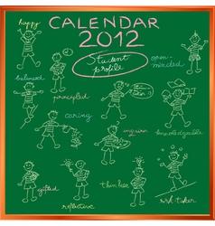 2012 calendar blackboard vector