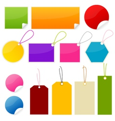 Colorful tags and stickers vector