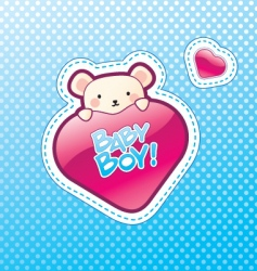 Baby boy postcard vector