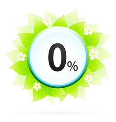 0 percent icon vector
