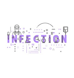 Medicine concept infection vector