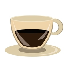Modern cup of coffee graphic vector