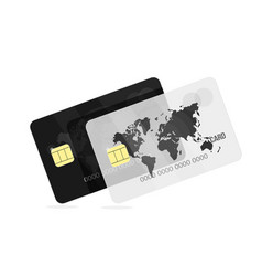 bank card black and white for the banking vector image vector image