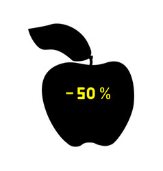 Black discount apple fifty percent vector