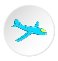 Childrens plane icon cartoon style vector