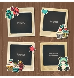 Collage of nice photo frame vector image