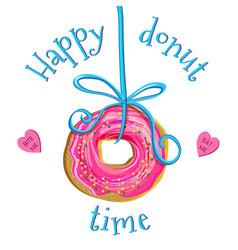 creative doughnut vector image vector image