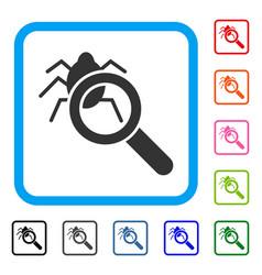 Debugger explorer framed icon vector