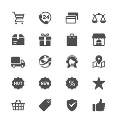 e-commerce glyph icons vector image vector image