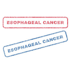 Esophageal cancer textile stamps vector