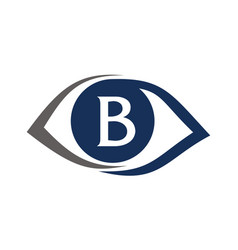 eye care solutions letter b vector image