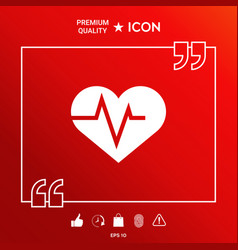 Heart with ecg wave - cardiogram symbol medical vector