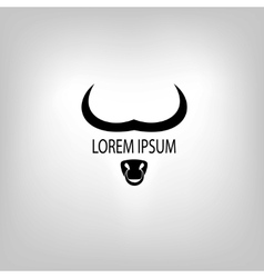 Icon of cow or bull head vector