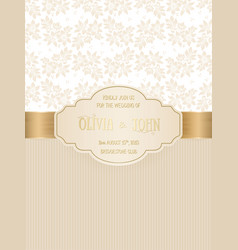 invitation cards or wedding card vector image vector image