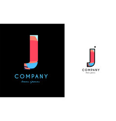 j blue red letter alphabet logo icon design vector image vector image