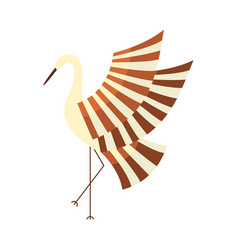 Japanese crane symbol of good luck and longevity vector