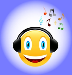 Music smile vector image
