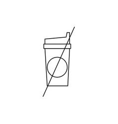 No cofee line icon vector