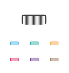Of coiffeur symbol on comb vector