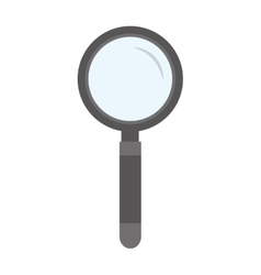 search magnifying glass flat line icon vector image vector image