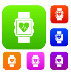 Smartwatch set collection vector
