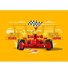 Sport car formula one vector image