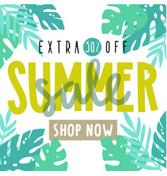 Summer sale flyer poster vector