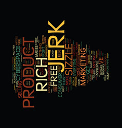 the niche jerk text background word cloud concept vector image vector image