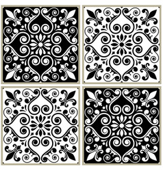 Tiles seamless collection portuguese or spanish v vector