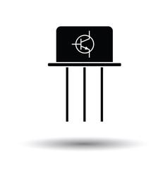 Transistor icon vector image vector image