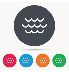 Wave icon Water stream sign vector image vector image