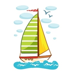A sailboat on the sea vector