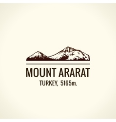 Mountain tourist logo emblem mount vector