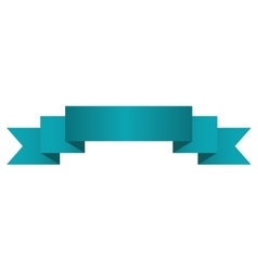 Banner ribbon ocean blue graphic vector