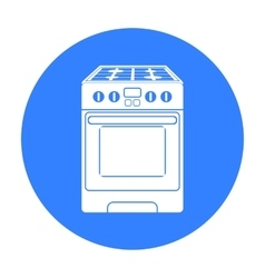 Kitchen stove icon in black style isolated on vector