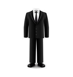 Businessman suit isolated on white vector