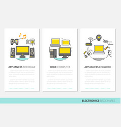 electronics technology business brochure template vector image
