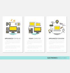Electronics technology business brochure template vector