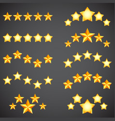 Star rating icons vector