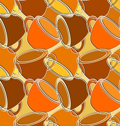 Seamless pattern with cups vector