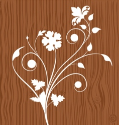 floral wooden vector image