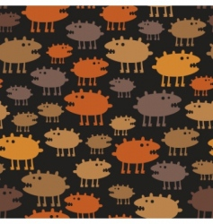 Monsters pattern vector