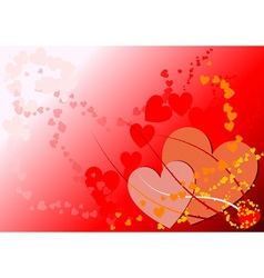 vector backgraund of valentine hearts vector image